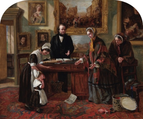 Emma Brownlow, the Foundling Restored to its Mother, 1858 (c) Coram in the care of the Foundling Museum