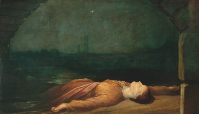 G F Watts (1817-1904), Found Drowned, c 184 8-1850, oil on canvas -® Watts Gallery.